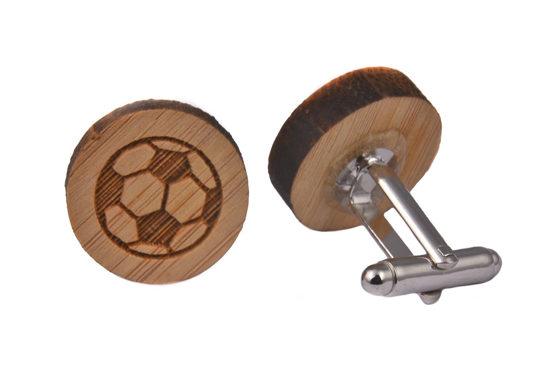 Wooden Football Cufflinks