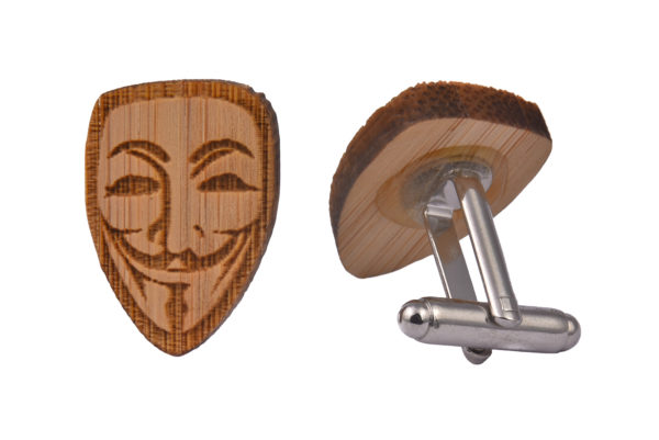 Wood Anonymous Mask