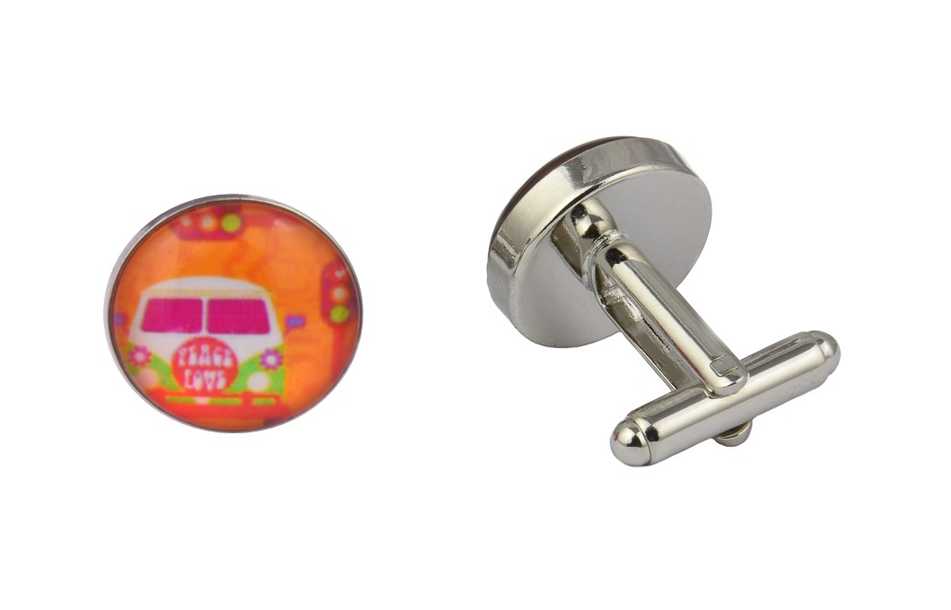 Peace Campervan Cufflinks