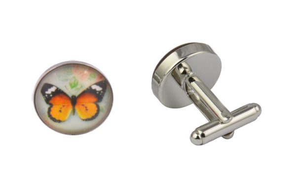 Butterfly Orange Cufflinks