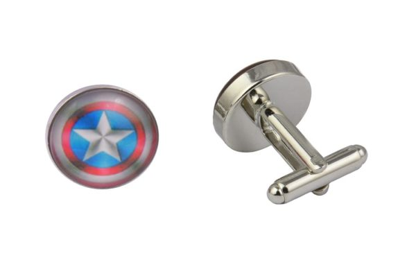 Captain America Shiny Shield Cufflinks