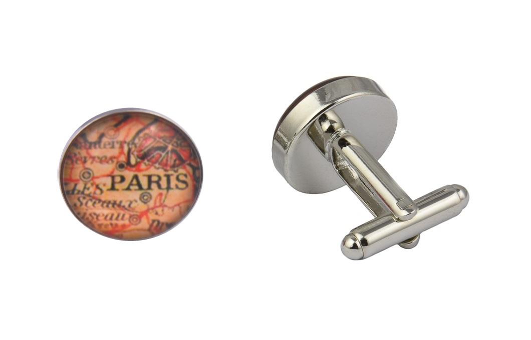 Paris Map Cufflinks