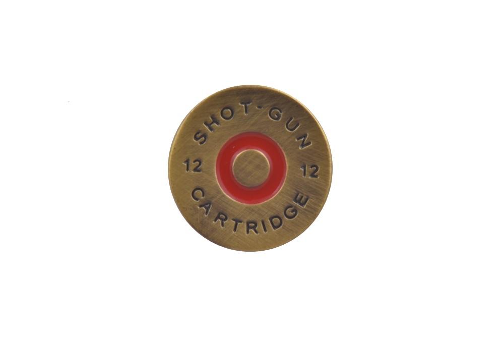 Shotgun Pellet Lapel Pin Badge