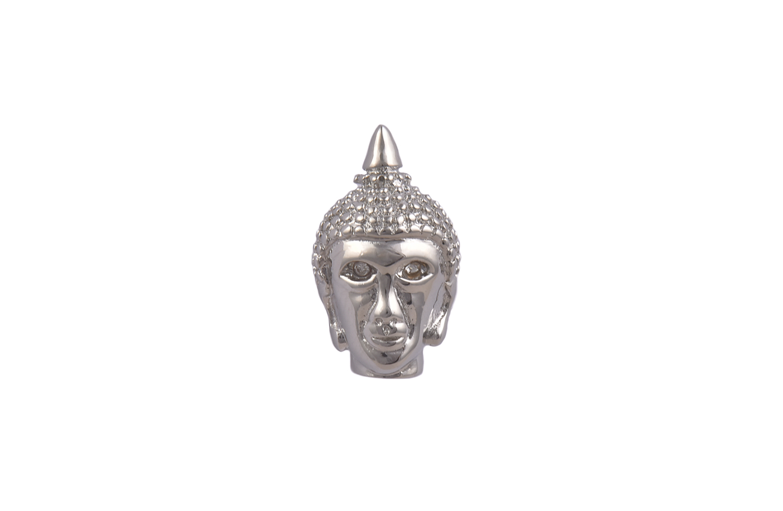 Buddha Silver Metal Lapel Pin