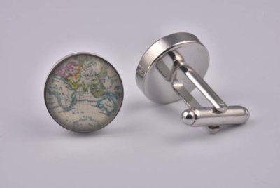 Colourful World Map Cufflinks