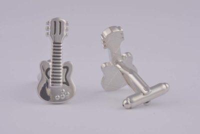 Guitar Silver Cufflinks