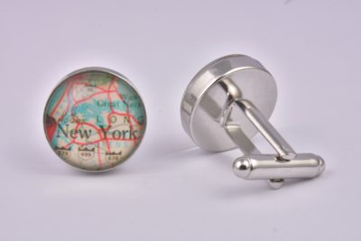 New York Map Cufflinks