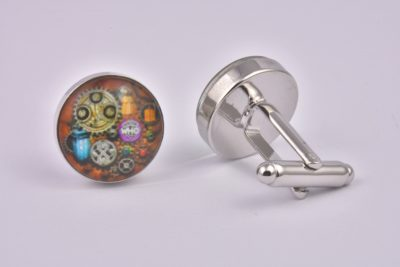 Dr Who Steampunk Cufflinks
