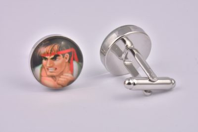 Street Fighter Character Cufflinks