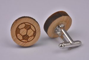 Wooden Football Cufflinks
