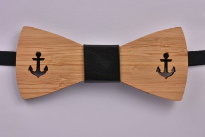 Wooden Bow Tie Anchors Large