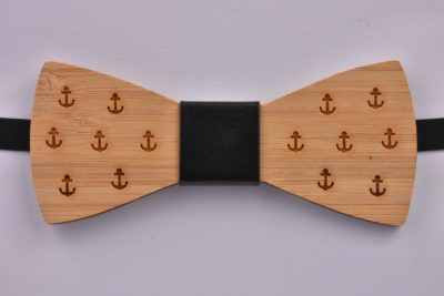 Wooden Bow Tie Anchors Small