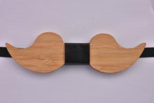 Wooden Bow Tie Moustache CGHB0003