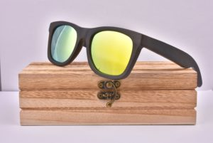 Real Dark Wood Yellow Polarised Sunglasses