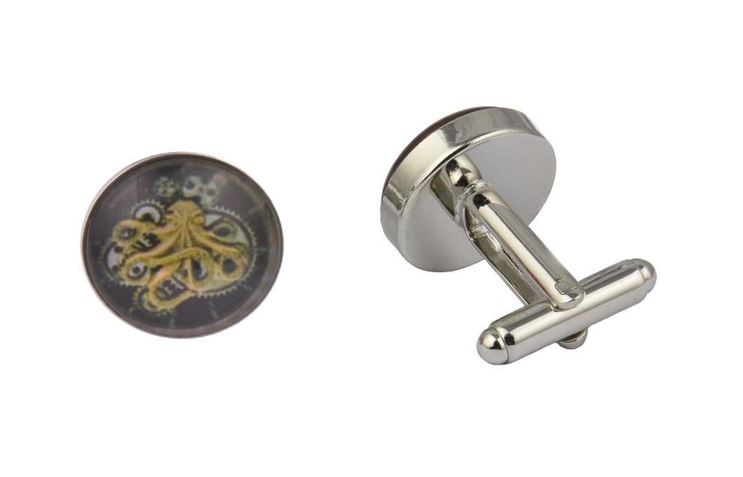 Steampunk Octopus Cufflinks