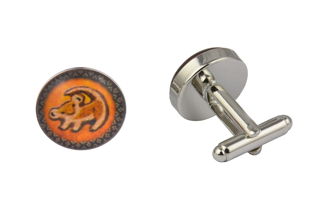 Lion King Orange Cufflinks