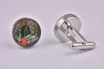 Dark Tower Steampunk Cufflinks
