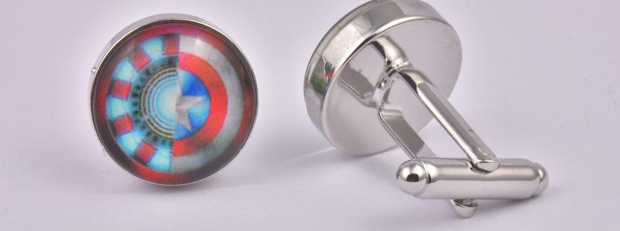 Exclusive Cufflinks Iron Man V Captain America
