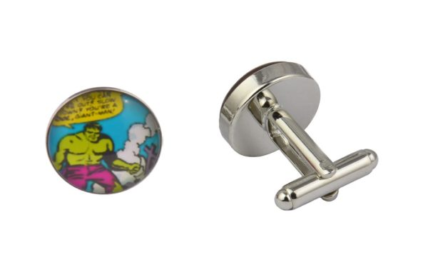 Comic Book Incredible Hulk Cufflinks