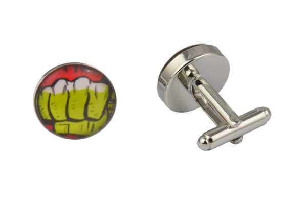 Comic Book Incredible Hulk Fist Cufflinks