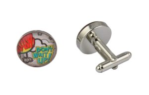 Comic Book Don't Wait Up Cufflinks