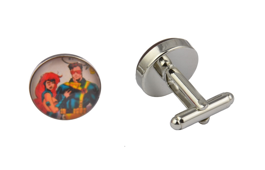 Comic Book Superhero Love Cufflinks