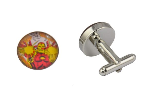 Comic Book Iron Man Cufflinks