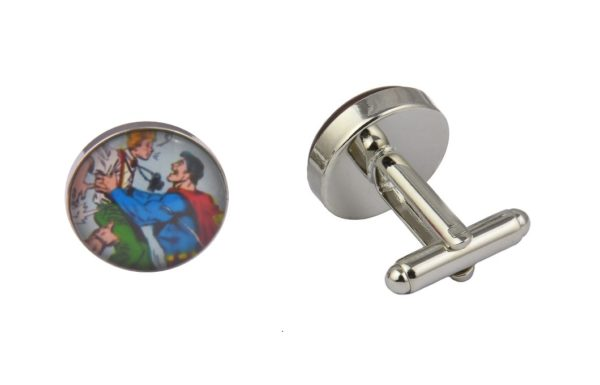 Comic Book Superman Reporter Cufflinks