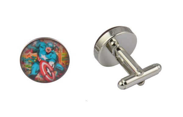 Comic Book Captain America Cufflinks