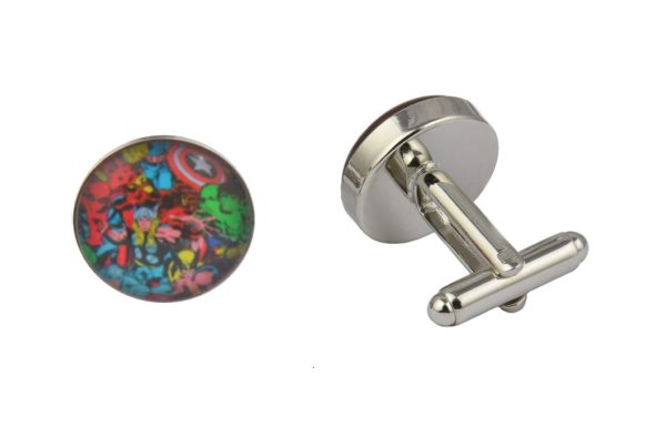 Comic Book Superhero Collage Cufflinks