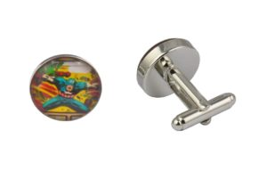 Comic Book Captain America Attack Cufflinks