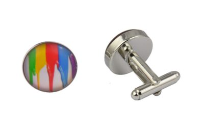 Paint Run Artist Cufflinks