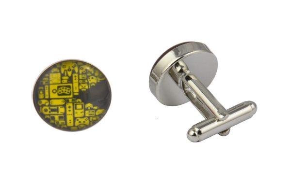 Pacman Art Retro Cufflinks