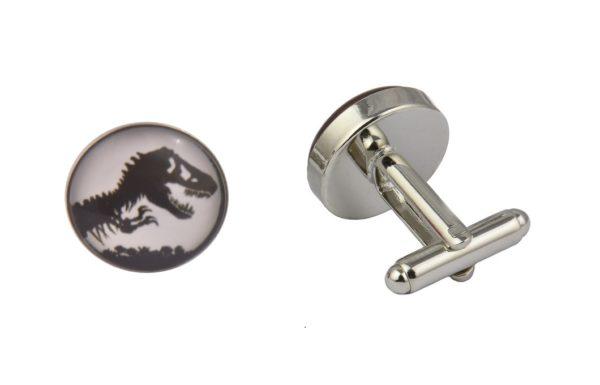Jurassic Park White Cufflinks
