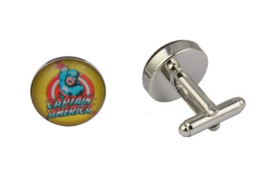 Captain America Yellow Cufflinks