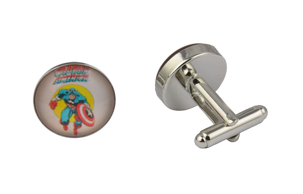 Captain America White Cufflinks
