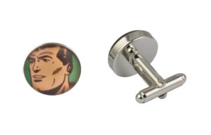 Comic Book Retro Superman Art Cufflinks