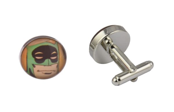 Comic Book Retro Batman Art Cufflinks