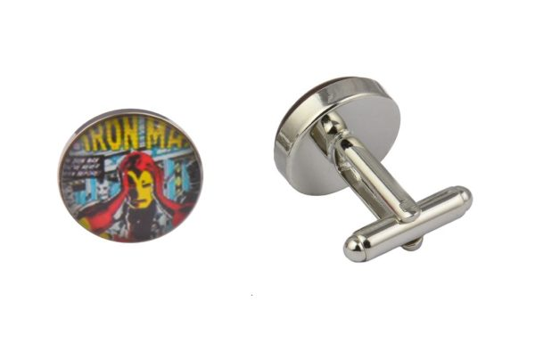 Comic Book Retro Iron Man Cufflinks