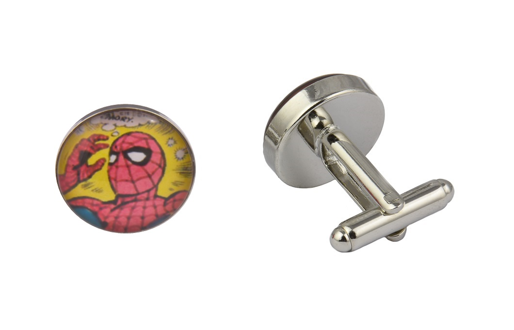 Comic Book Spiderman Art Cufflinks