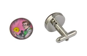 Comic Book Spiderman Peter Parker Cufflinks