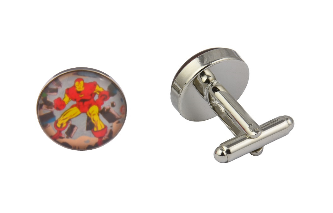 Comic Book Iron Man Art Cufflinks