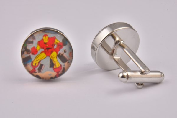 Comic Book Iron Man Art Cufflinks