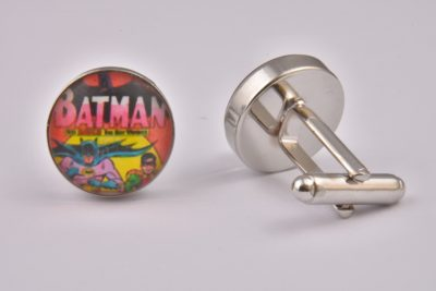Superhero Batman and Robin Art Cufflinks