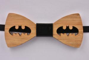 Wooden Bow Tie Batman