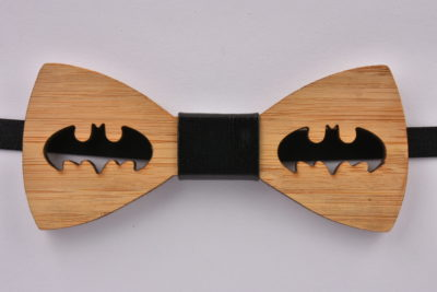 Wooden Bow Tie Batman