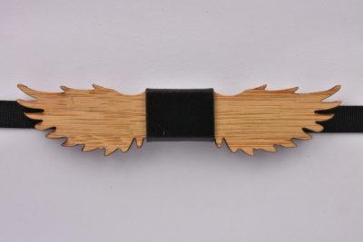 Wooden Bow Tie Wings Shape