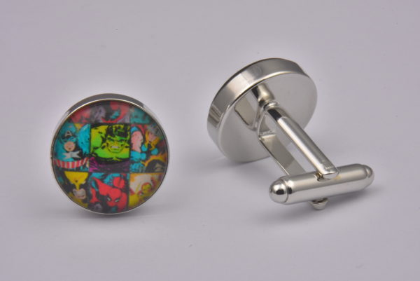 Superhero Tiles Pattern Cufflinks