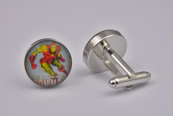 Superhero Iron Man Retro Cufflinks