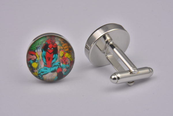 Superhero Spiderman Attack Cufflinks